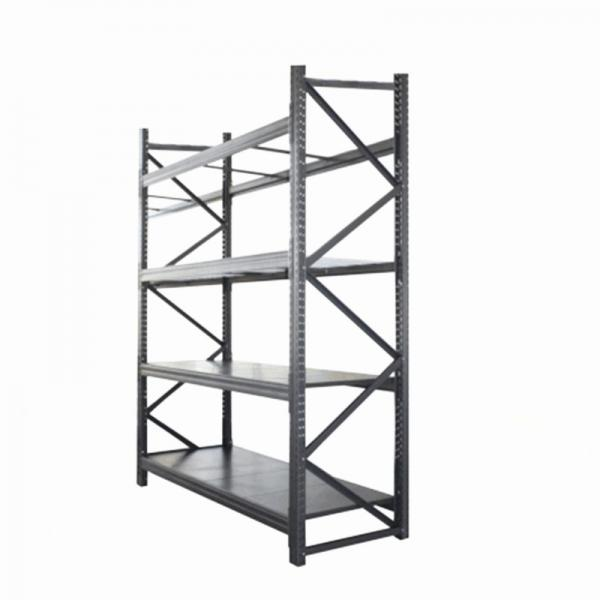 5 Tiers Galvanized Warehouse Rolling Metal Shelf